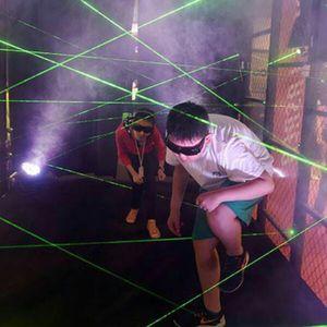 Image 2 - green blue red laser game magic penetralium escape props Real green laser array chamber secret funny laser safe maze game