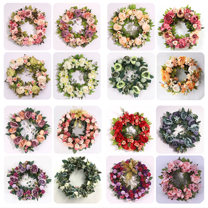 Image 5 - 複数のスタイルシルク牡丹人工花花輪ドア完璧な品質シミュレーション花輪結婚式ホームパーティーの装飾