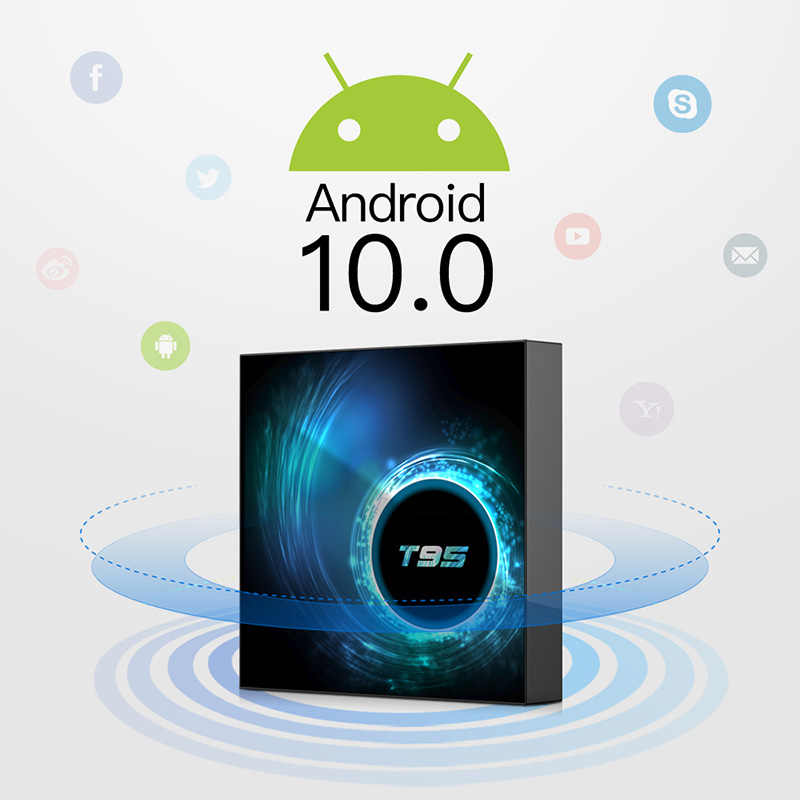 Smart TV Box Android 10.0 10 9 4GB 32GB 64GB Allwinner H616 Quad Core 6K Media player Set top box supporta 2.4G per la Disney +