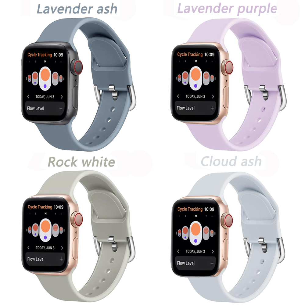 Silicone Strap For Apple Watch 5 4 Band Correa Applewatch 44mm 40mm 42mm 38mm Iwatch 5 4 3 2 1 Bracelet Watchband Belt