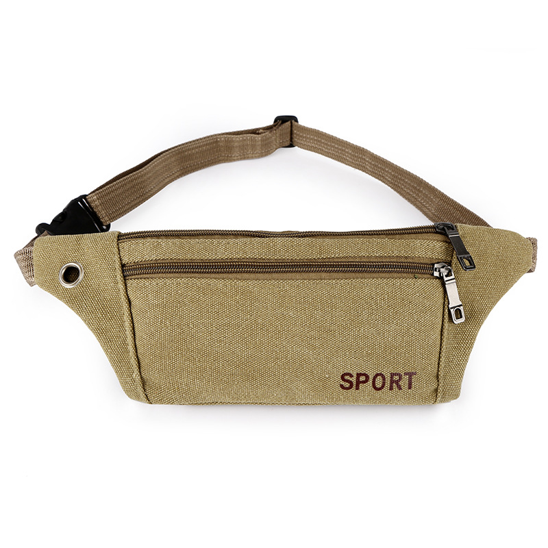 Canvas Waist Pack Outdoor Sports Waist Pack Men Cross-body Chest Bag Mobile Phone Waist Bag Customizable
