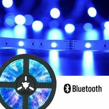 Diodo impermeável flexível da fita do diodo 5m 10m 15m 20m 12v adaptador de controle remoto dc luzes de tira conduzidas rgb5050 bluetooth luces led smd2835