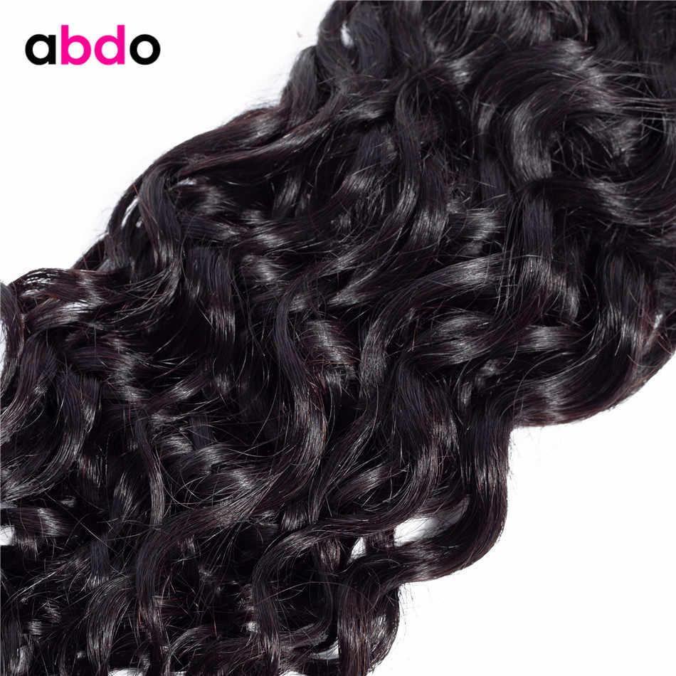 Su dalga İnsan saç paketler brezilyalı saç örgü demetleri doğal renk Remy insan saç uzatma Abdo