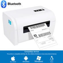 Imprimante détiquettes de codes à barres thermique GZ Weiou avec porte étiquette Compatible pour Amazon Ebay Etsy Shopify 4 × 6 étiquette dexpédition