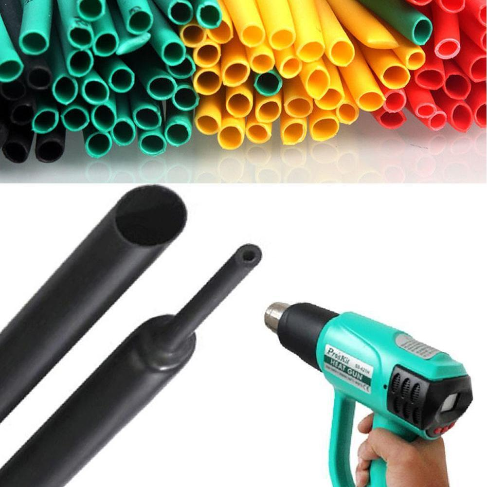 530pcs/set Heat Shrink Tubing Insulation Shrinkable Sleeve Electronic Assortment Wire Cable Tube Polyolefin Flame Retardant S9F4