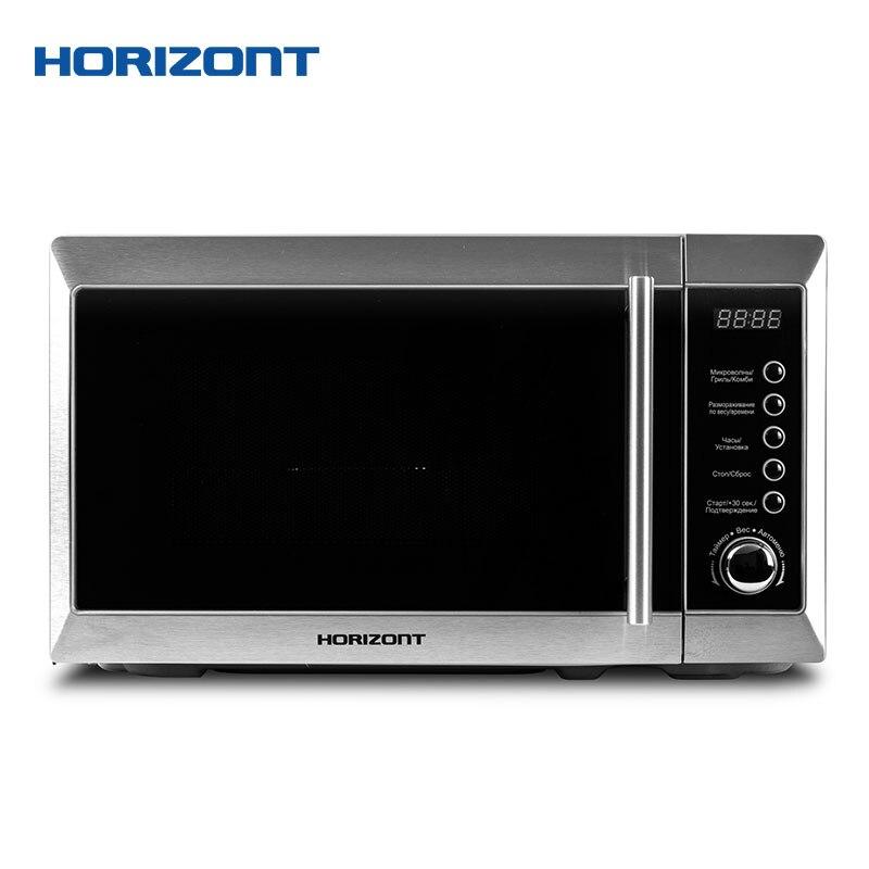 Horizont микроволновая печь 20MW800-1479BFS объемом 20 литров  с режимом работы «Гриль» и электронным типом управления