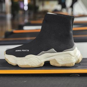 Image 2 - SWYIVY גרב סניקרס נשים 2019 חדש סתיו סריגה שחור סניקרס נקבה נעליים יומיומיות נעלי טריזים נשים קרסול מגפי לבן