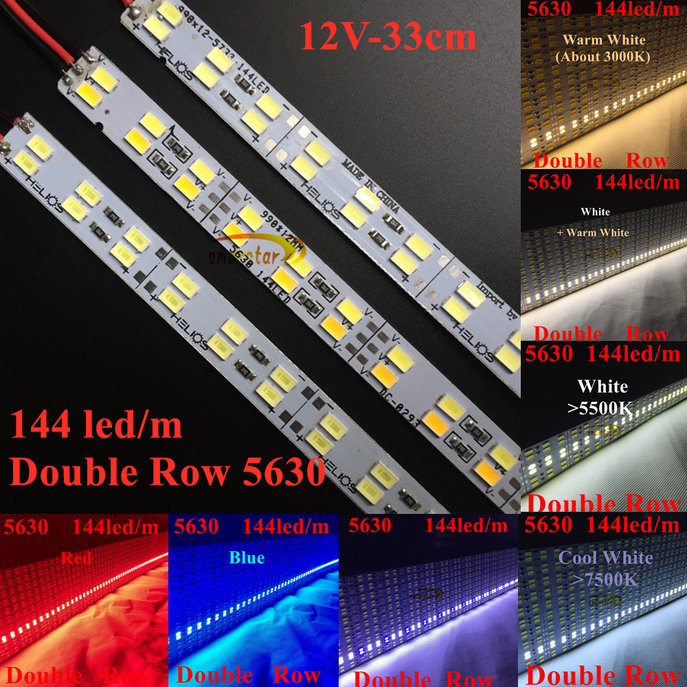 Smarstar 12V 0.33m 48led Double Row 5630 Rigid Led Strip Light Hard  LED Bar 33 Cm LED Strip Bar Lighting Home Hotel Lighting