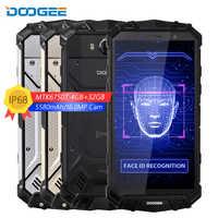 DOOGEE S60 Lite IP68 Smartphone de Charge sans fil 5580mAh 12V2A Charge rapide 16MP 5.2 ''FHD MTK6750T Octa Core 4GB 32GB téléphone NFC