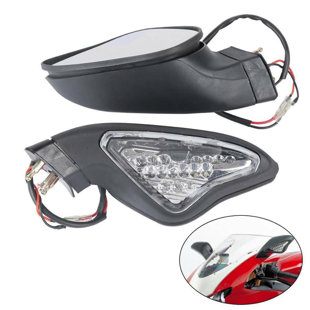 Motorcycle Rear view Mirrors W/ Turn Signal For <font><b>Ducati</b></font> <font><b>1098</b></font> 848 1098S 1098R 1198S 1198R 2007-2012 2011 2010 2009 2008 image