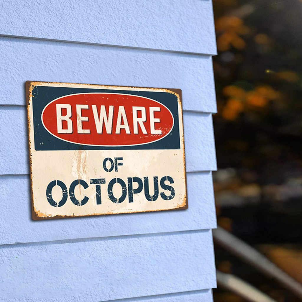 Plakat Logam Vintage MENJADI WARE dari Octopus Logam Tanda Bendera Plakat Bar Club Cafe Garasi Seni Dekorasi Dinding Retro Piring tanda Dekorasi
