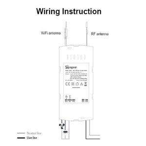 Image 5 - SONOFF IFAN03/RM433 Wifi Smart ventilatore da soffitto Dimmer Switch Fan con luce a Led velocità telecomando 433mhz lavora con Google Home