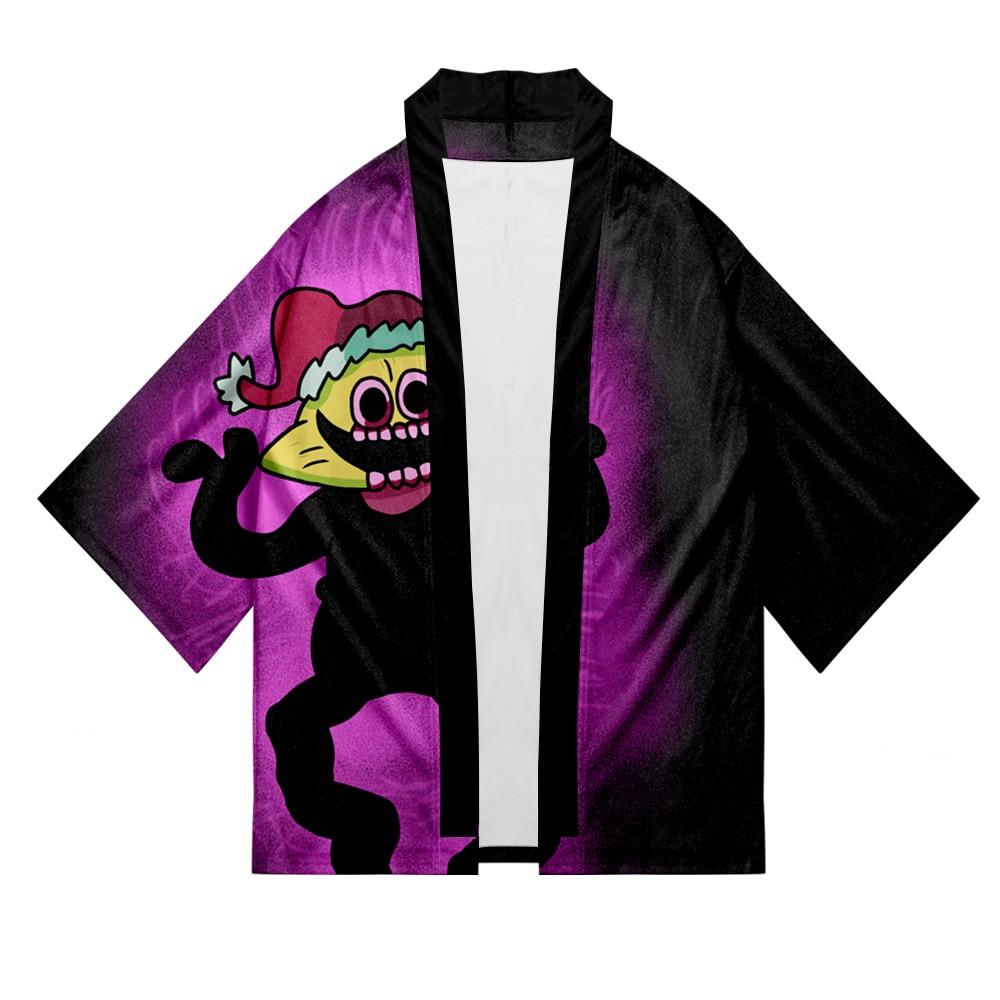 Friday Night Funkin 3D Print Summer Holiday Women/Men Three Quarter Sleeve Trend Style Blouse Funk Kimono Street HIPHOP Style