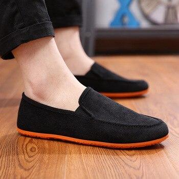 Dwayne 2019 Homens Variedade de cores de lona Ervilhas Sapatos Na moda preguiçoso Casual Tamanho grande Sapatos de motorista Sapatos masculinos vulcanizados 1