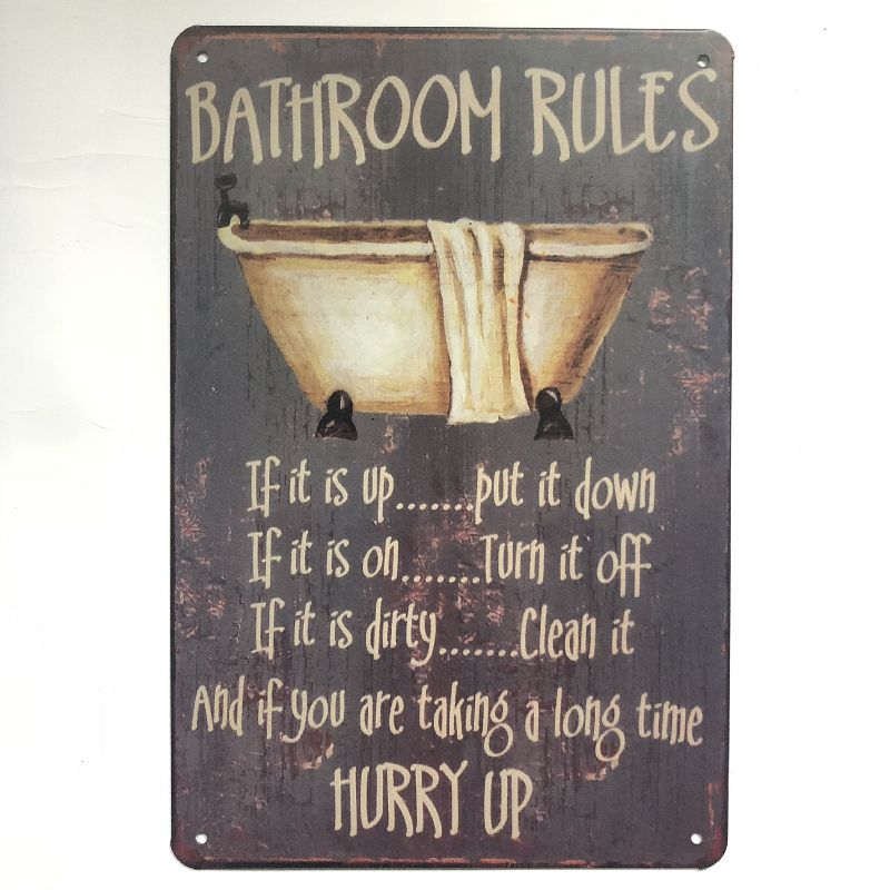 Metal Tin Sign Keep Calm Wifi Toilet