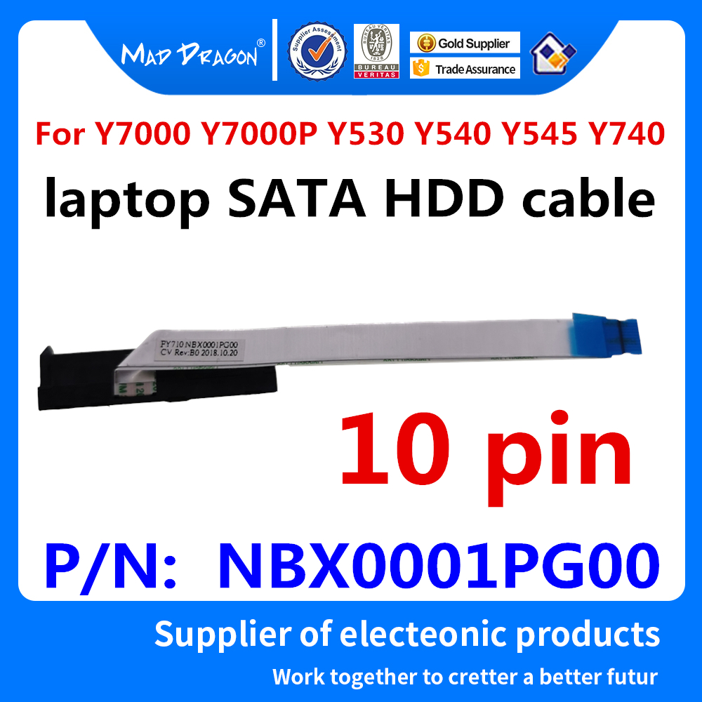 New Original Laptop SATA SSD HDD Cable Hard Drive Cable For Lenovo Y7000 Y7000P Y530 Y540 Y545 Y740 NBX0001PG00 10 Pin