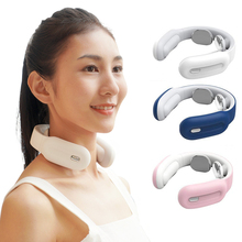 цена на Smart Neck Massager Pulse Pain Relief Cervical Kneading Device Wireless Vertebra Massage Physiotherapy Relaxation Tool