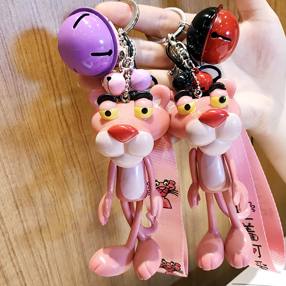 Keychain Kawaii Kpop Accessories Pink Panther Toy Keychain Kawaii Keychain Birthday Gifts Kids Love Gift Backpack Pendant