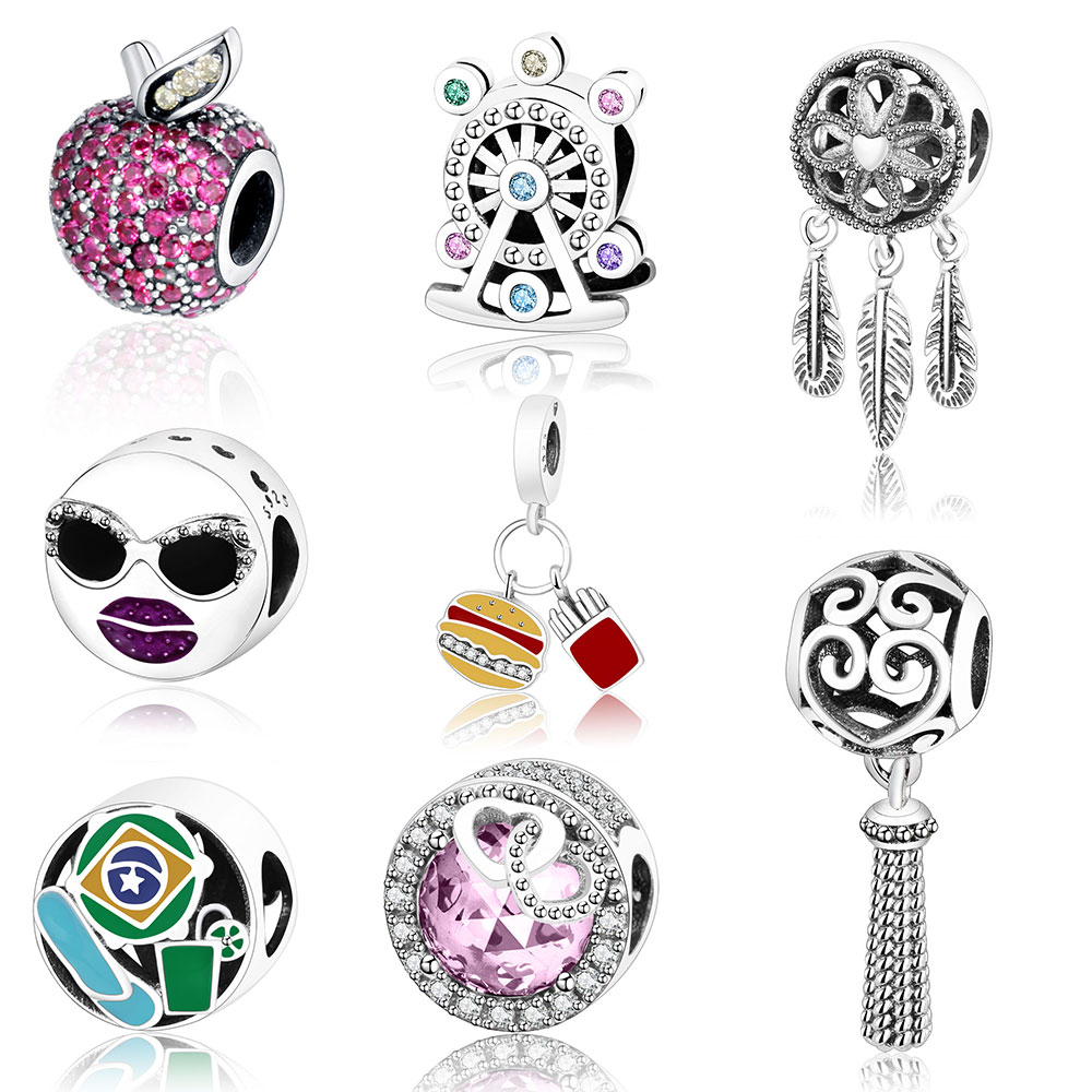 Fit Original Pandora Charm Bracelet Pendants 925 Sterling Silver Charm  Beads Top Quality DIY Jewelry Wholesale Price Berloque