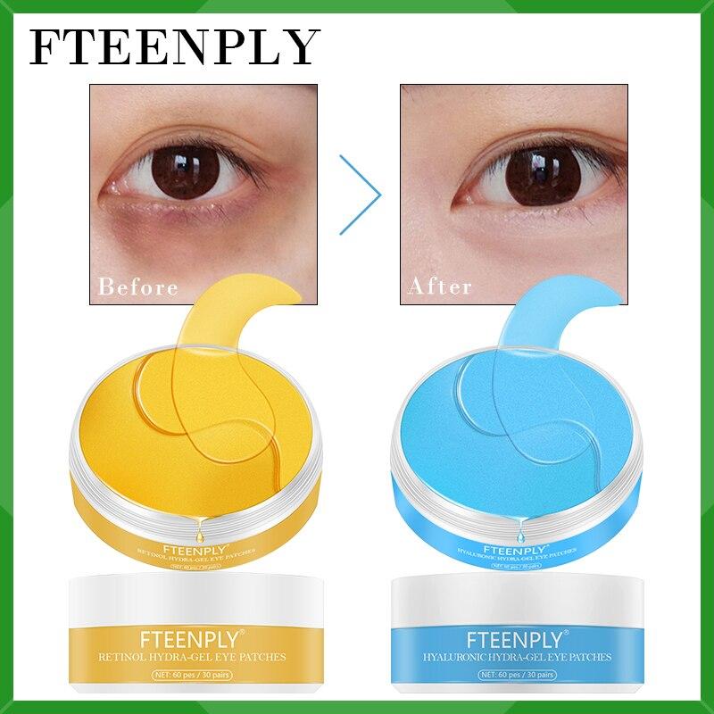 Eye Mask Collagen Eye Patch Hyaluronic Acid Gel Moisturizing FTEENPLY Skin Care Retinal Reduce Dark Circles Fine Lines Eye Bag