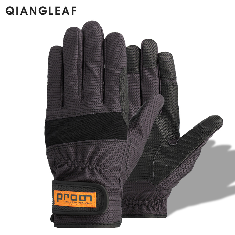 QIANGLEAF Work Glove Brand Safety Cycling Gloves Pigskin Pu Nitrile Gloves High Motion Quality Protective Free Shipping  1908