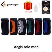 GeekVape Aegis Solo mod waterproof E Cigarette fit Cerberus Subohm Tank Tengu RDA By single 18650 VS aegis mini Mod цена