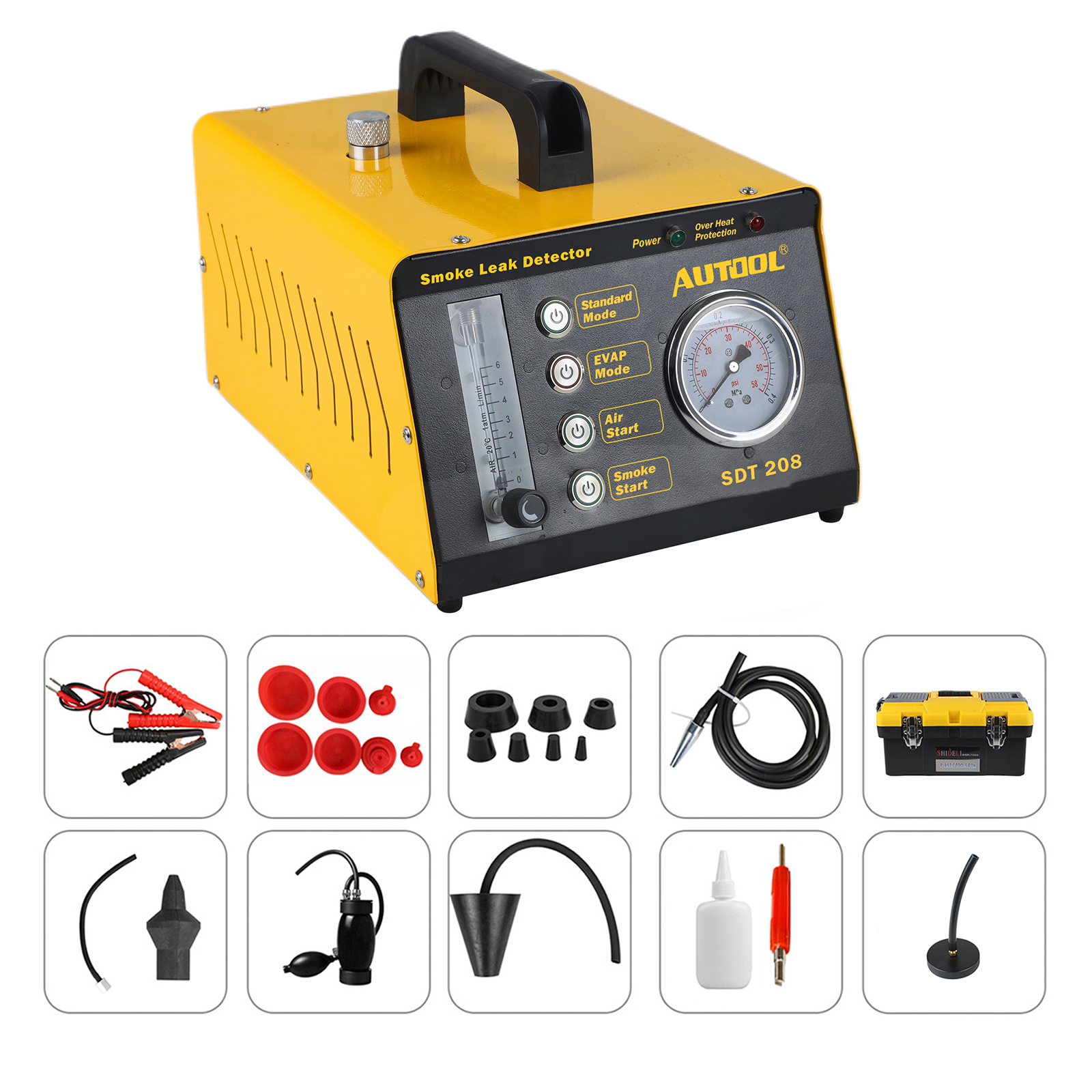 AUTOOL Smoke Cone Leak Detector Exhaust Intake Boot Adapter Diagnostics for Automotive EVAP Leak Locator Tester
