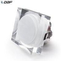DBF-Luz LED empotrada cuadrada de acrílico, RGB, 1W, 3W, 5W, 7W, luces de techo con controlador de CA de 110V y 220V para dormitorio, cocina y hogar
