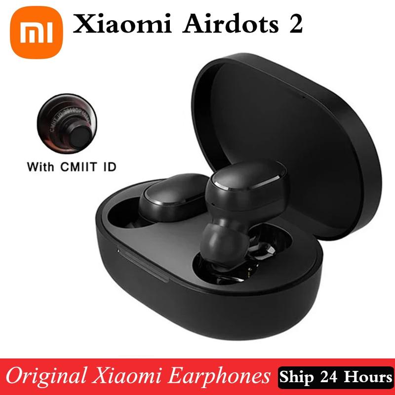 Оригинальные беспроводные наушники Xiaomi Redmi Airdots 2 TWS, Bluetooth наушники Mi, настоящие беспроводные наушники, базовые 2 Автомобильные наушники