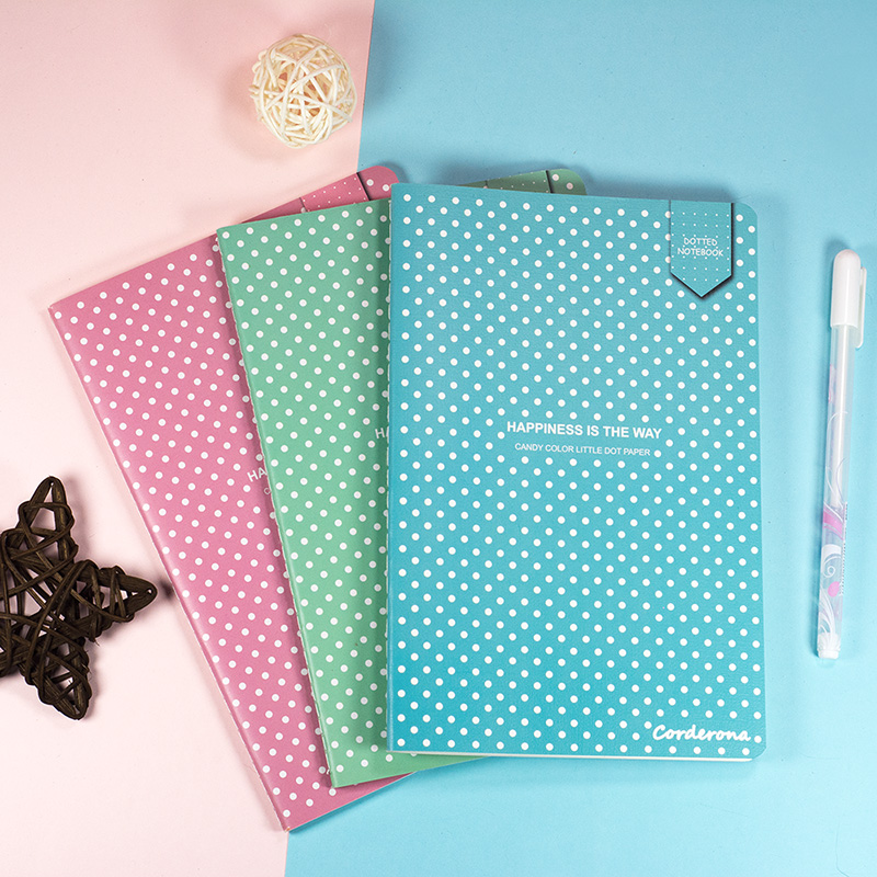 Bullet Dotted Journal Dot Grid NotebookSoft Cover Stationery Bujo Travel Planner Diary