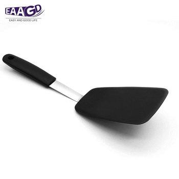 1 szt Premium elastyczna silikonowa standardowa łopatka szpatułka-najlepsze jajko naleśnik i łopatka silikonowa tanie i dobre opinie Ekologiczne Ce ue F0864 Silikonowe Tokarstwo