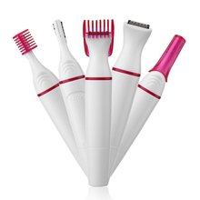 5 в 1 Женская бритва для удаления волос, женский Электрический станок для бритья, мини-триммер, бритва, бикини, триммер для бровей, лица, подмышек