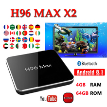 Android TV Box H96 MAX X2 Boxing 4GB 64GB S905X2 1080P H.265 4K support youtube netflix H96MAX 2G16G Smart box brasil