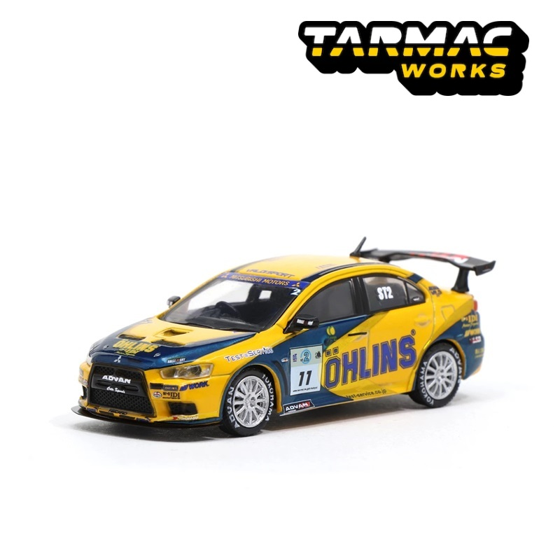 Tarmac Works 1:64 Mitsubishi Lancer Evolution X Super Taikyu OHLINS 2008 #11 Diecast Model Car