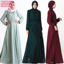 Vestidos Арабская абайя турецкое мусульманское платье Кафтан Дубай пакистанский хиджаб исламские платья халат Musulmane Longue Caftan Marocain