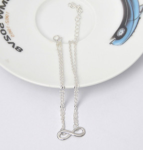 2018 Women Elegant Double Chain Eight Bead Anklet Ankle Bracelet Sexy Barefoot Sandal Beach Foo Accessory Jewelry