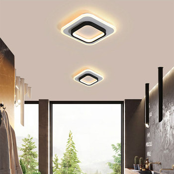 modern led ceiling lights 40 60cm for bedroom cloakroom ceiling lamp aisle corridor balcony lamps white black lighting fixture Led Ceiling Light 15W Decoration Modern Ceiling Lamp for Living room Bedroom Dining room Aisle Lamp Corridor Light Balcony Lamps