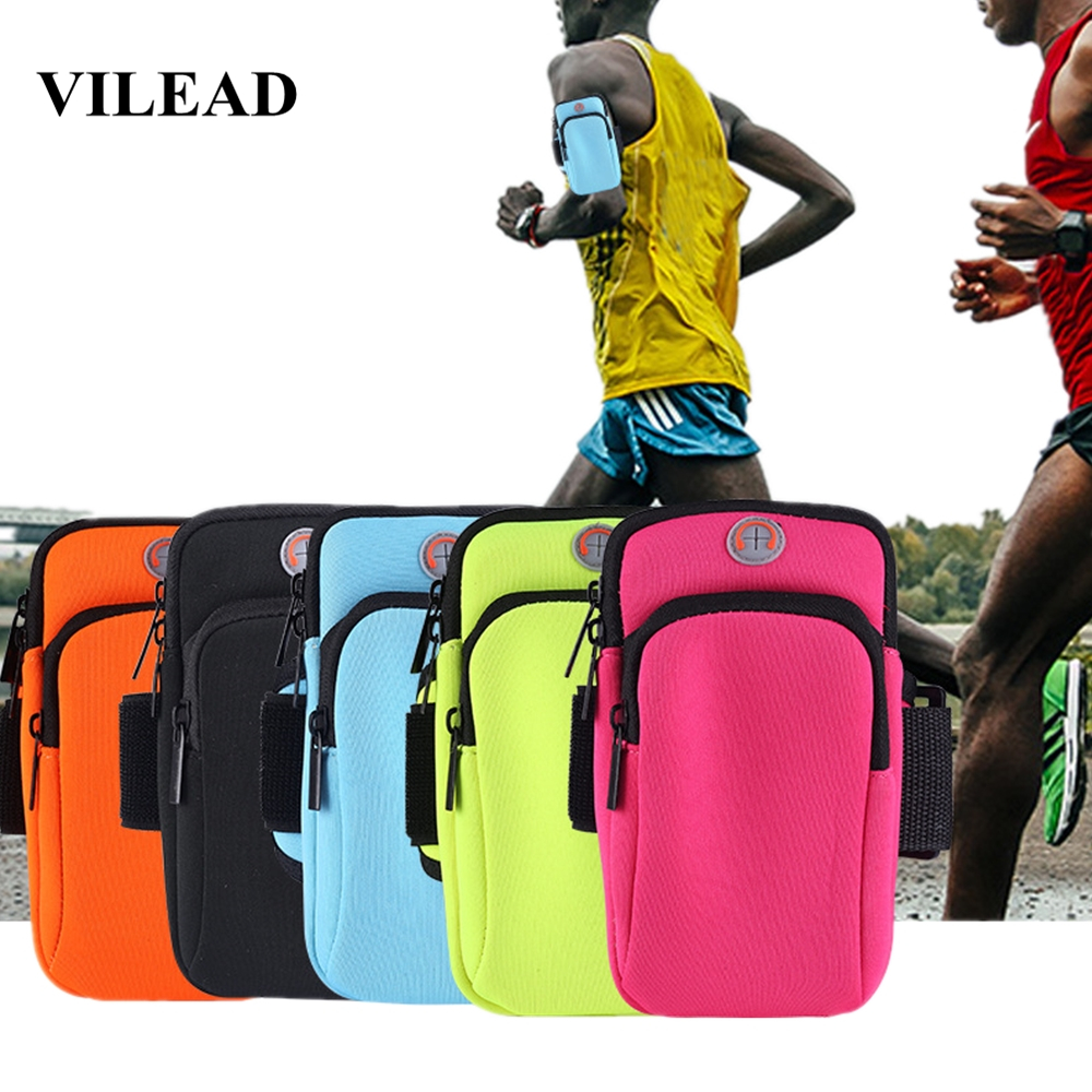 Vilead Neoprene Outdoor Sports Running Bag Arm Bag Waterproof Men Women Fitness Phones Cards Holder Bag Travel Storage Backpack