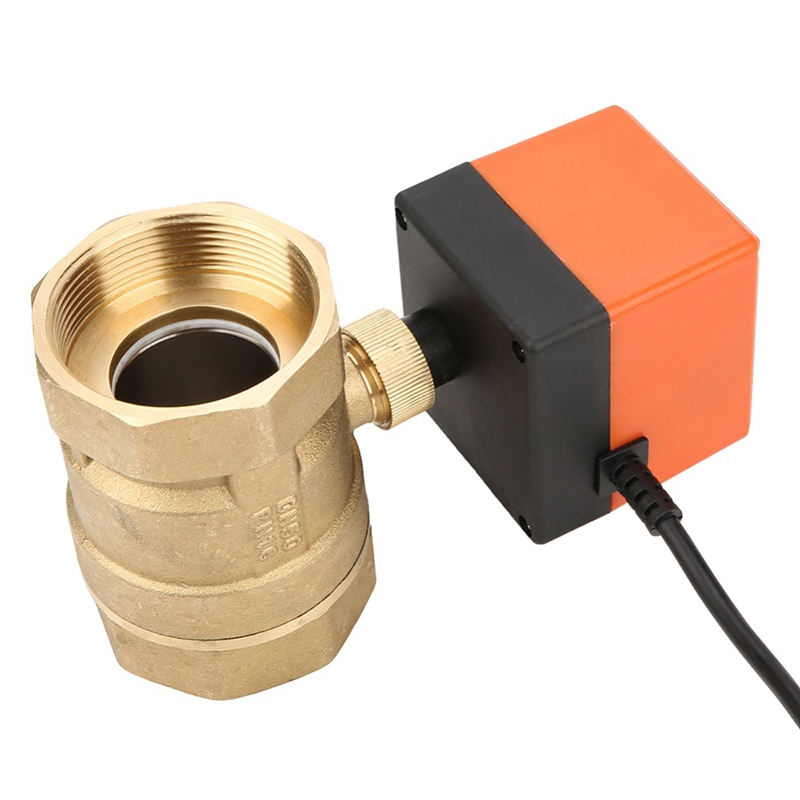 Ac 220V G2 Dn50 2-Way 3-Wire 2-Point Control Brass Electrical Motorized Ball Valve