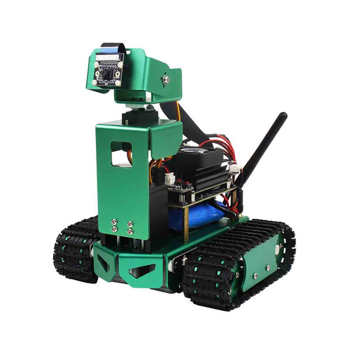 Artificial Intelligence Car DIY 2DOF Robot Car Kit For Jetson Nano (Fixed Height) With /Without Development Board Birthdaty Gift