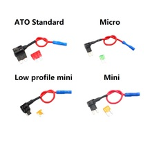 12V Add-a-circuit Automobile Motorcycles Circuit Insurance adapter Micro Low-profile Mini Standard Blade 5A Fuse With holders insurance block 7 5a