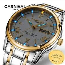 MIYOTA automatic men watch Carnival tritium luminous TOP brand luxury mechanical watches men clock stainless steel reloj relogio