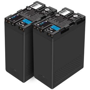 Image 1 - 2pcs BP U65 BP U60 BP U90 Batteria USB + D tap Per Sony PMW EX1 PMW EX1R PMW EX3 PMW f3 PMW F3K PMW F3L PXW FS5 FS7 EX280 BP U30