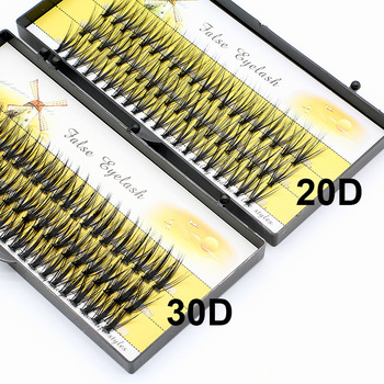 20D/30D Beautiful Individual Cluster EyeLashes 3D Volume Mink Grafting Fake False Eyelashes eyelash extension individual bunche 1