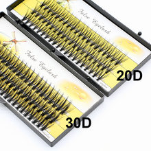 20d/30d bonito individual cluster cílios 3d volume vison enxertia falso cílios falsos extensão cílios individuais bunche