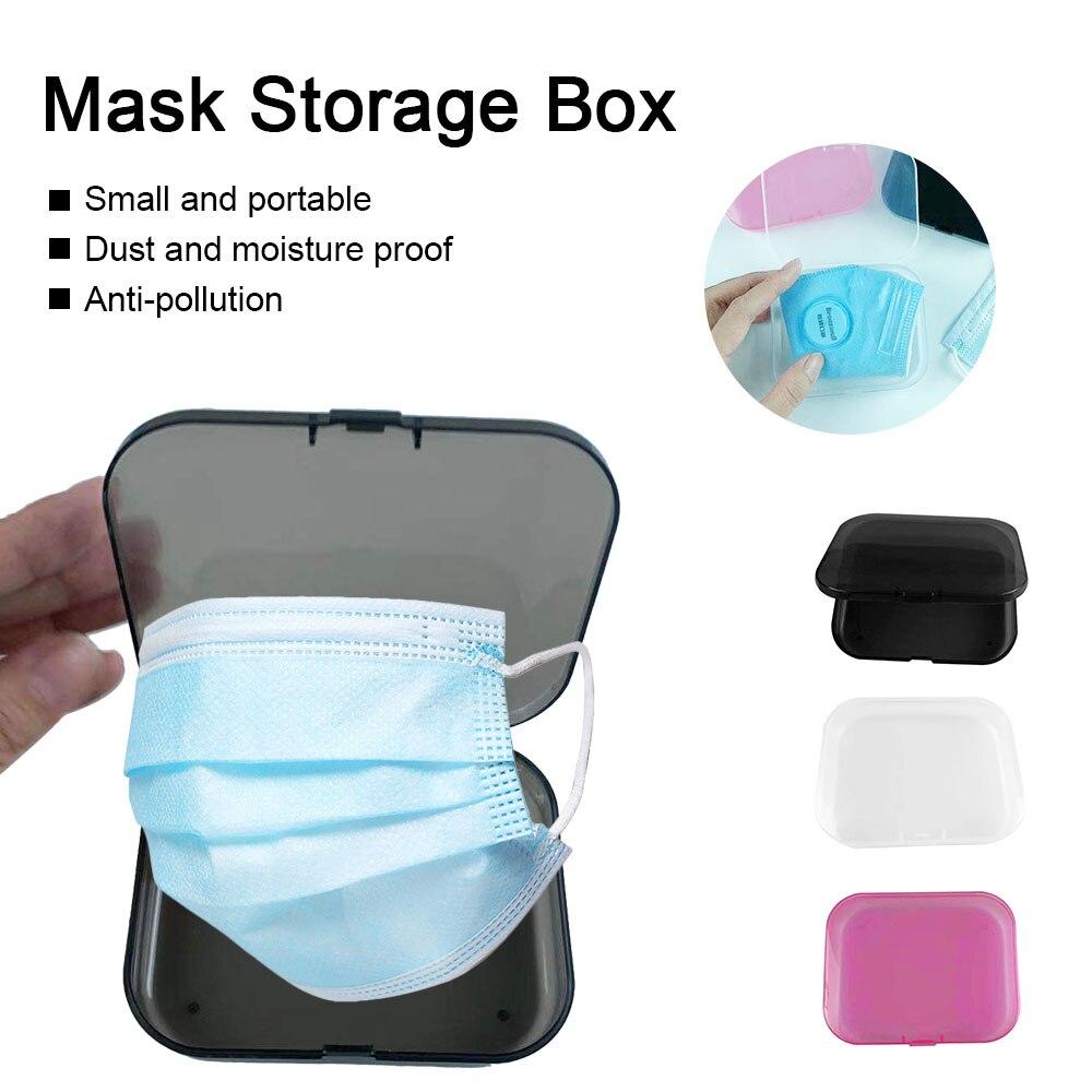 2020 новых малых маска чехол для хранения коробка Портативный одноразовые маски для лица контейнер безопасная маска ящик для хранения Органи...