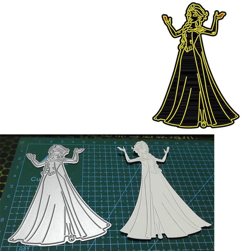 Elegant Princess Metal Cutting Dies Stencils 2020 Character Die Cuts For Card Making Embossing Crafts Cards