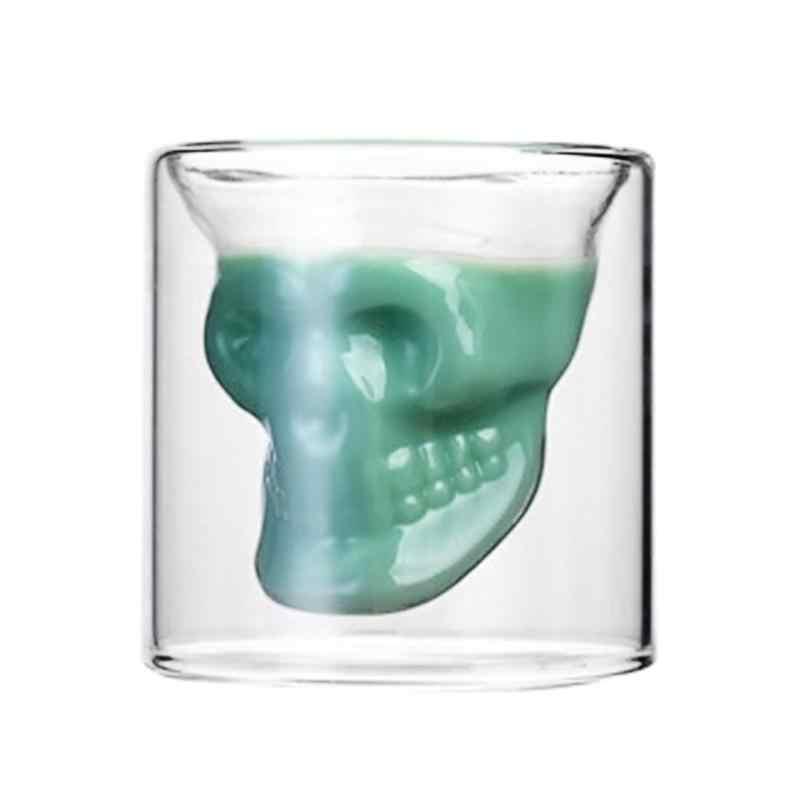 Halloween Del Cranio Doppio Strato Trasparente tazza di Vetro Tazza Tazza di Birra Whisky Wine Cup per Bar A Casa Del Partito di Cerimonia Nuziale Albergo Occhiali Regalo Articoli e Attrezzature per Acqua, Caffè, Tè