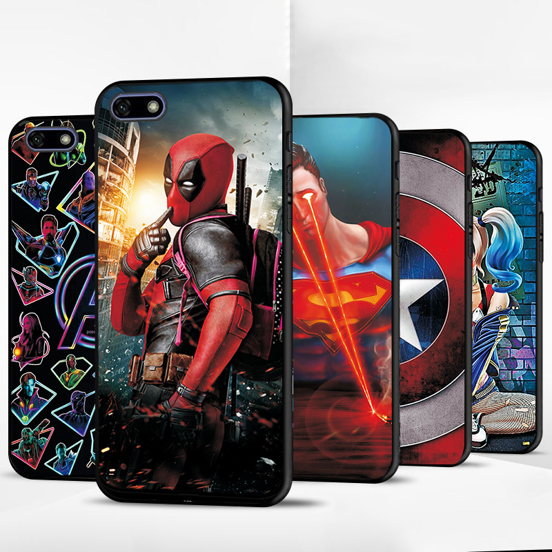For <font><b>Huawei</b></font> Y5 Lite <font><b>2018</b></font> Y5Lite <font><b>2018</b></font> Venom Black TPU Phone <font><b>Case</b></font> For <font><b>Huawei</b></font> Y5 <font><b>2018</b></font> Y52018 Prime Back Cover Avengers Fundas Bags image