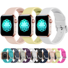 цена на Band For Apple Watch Band 38mm 40mm 42mm 44mm Rubber Sport Silicone IWatch Strap For Apple Watch Series 4 3 2 1 Brand Original